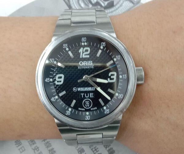 台中流當手錶拍賣 原裝 ORIS 豪利時 F1 賽車 自動 男錶 9成新 喜歡價可議 ZR474